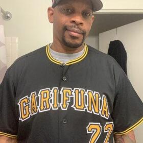 Custom Black Gold-White Baseball Jersey photo review