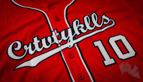 Custom Red White-Navy Baseball Jersey photo review